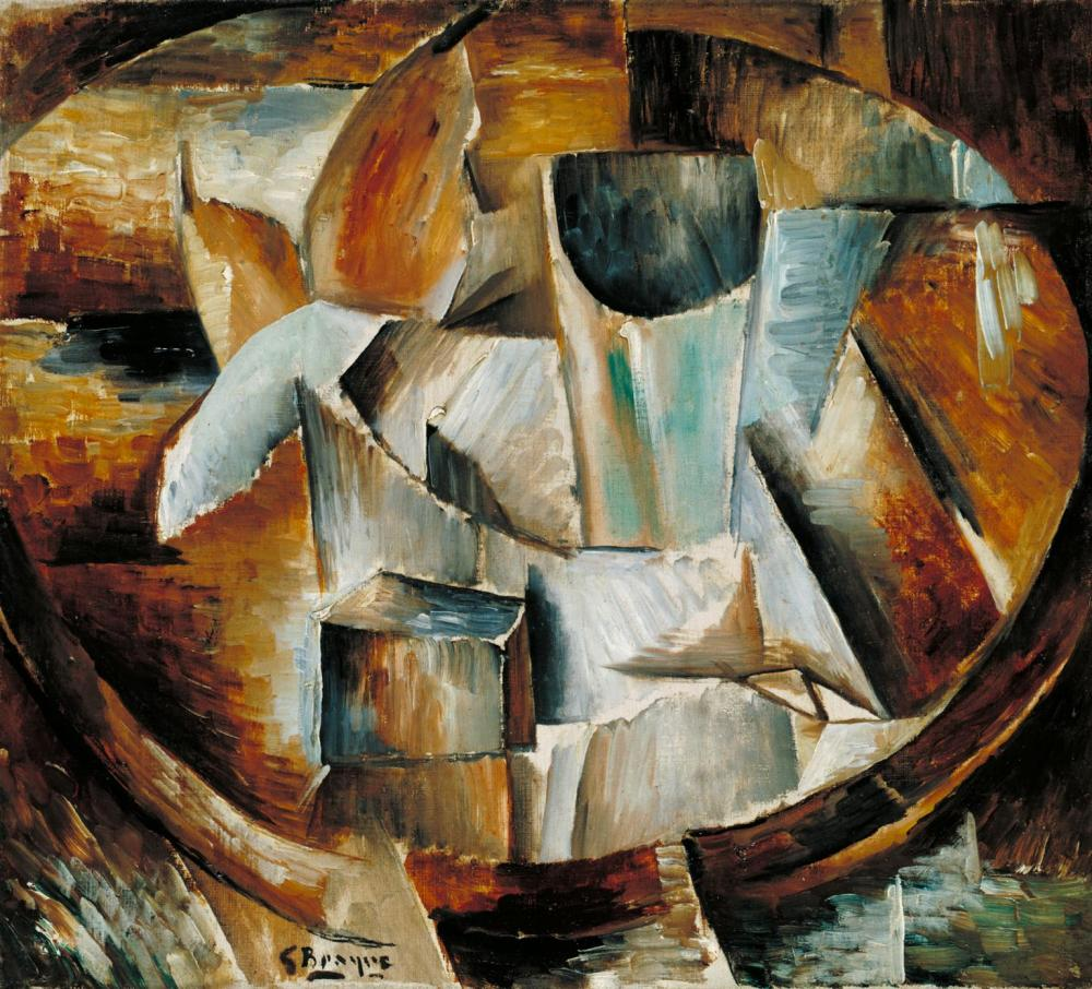 Glass on a Table 1909-10 Georges Braque 1882-1963 Bequeathed by Sir Antony Hornby through the Friends of the Tate Gallery 1988 http://www.tate.org.uk/art/work/T05028
